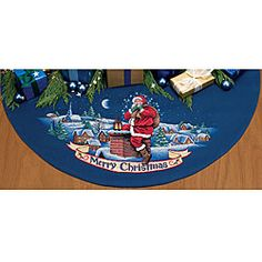Cross Stitch 'Merry Christmas/Santa' Tree Skirt Kit | Overstock.com Shopping - Big Discounts on Dimensions Cross Stitch Kits