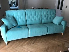 Our latest solution for challenging space was this - in three sections! The result is a 255 cm width sofa. Each seat is motorised to allow each to recline. How's that for an ultra luxurious basement media room. Recliner, Sofas, Basement, Couch, Space, Luxury, Room, Furniture, Home Decor