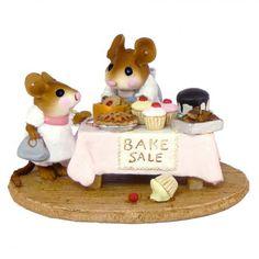 bake sale figurine, mouse miniature