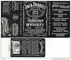Whiskey Jack Daniel´s logo Securité Sociale - Delcampe.net