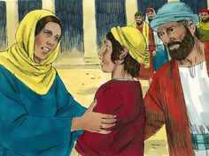 Jesus, aged 12, is found in the Temple asking and answering questions. (Luke 2:41-52) free visuals