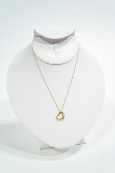 Tiffany & Co 18k Elsa Peretti Open Heart Small Pendant Chain Yellow Gold Necklace. Get the lowest price on Tiffany & Co 18k Elsa Peretti Open Heart Small Pendant Chain Yellow Gold Necklace and other fabulous designer clothing and accessories! Shop Tradesy now