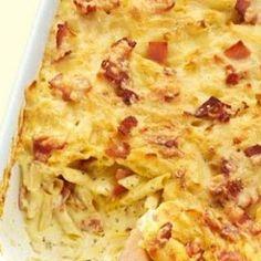 Καρμπονάρα στο φούρνο Greek Recipes, Lasagna, Macaroni And Cheese, Pasta, Cooking, Sweet, Ethnic Recipes, Foods, Kitchen