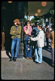 Thought this was modern day for a minute, out in front of Magnolia!  // Hippies of Haight Street, San Francisco, 1967