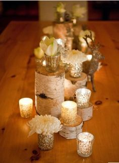 Same but no flowers or stagg. And bigger candles and white tablecloth