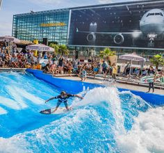 Airport Surfing is Actually a Thing Now:  Munich Airport is making waves with its new 2,150ft indoor wave riding pool.