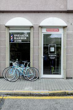 #sneakerbarber #popupstore Mikulasska 31 #Bratislava Bratislava, General Store, Barber, Pop Up, Sneakers, Places, Tennis, Beard Trimmer, Slippers