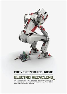 Potty train your e-waist - ad for e-waste recycling