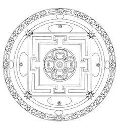 Mandalas Para Pintar: mandalas laberinto