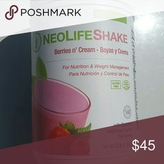 Neolife shake for nutrition weight management 22.8 Neolife shake for nutrition weight management 22.8 oz berries and cream with glucemic response control technology.  Best by jun/20 Other