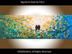 Original Abstract Landscape Painting Impasto by QiQiGallery, $185.00