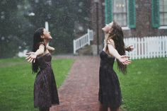photoshoot in the rain with your best friend...and yes that is me standing in the rain
