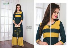 Specification :NAME :Hirwa-Eye CandyTOTAL DESIGN :10PER PIECE RATE :506/-FULL CATALOG RATE :5060/-+(5%GST) + Shipping ChargeWEIGHT :4SIZE :S   M   L   XL   XXL   XXXLType :Designer KurtisMOQ :Minimum 10 Pcs.Fabric Description :Rayon Rayon Kurtis, Long Kurtis, Textile Market, Designer Dresses, Designer Kurtis, Indian Outfits, Traditional Outfits, Eye Candy, Clothes For Women