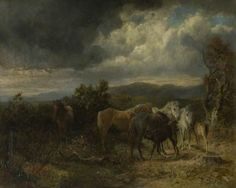 """""""Wind and Rain, New Forest Ponies"""" by Lucy Kemp-Welch"""