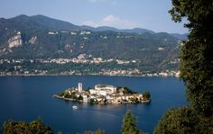 """Isola San Giulio, in the middle of Lago d'Orta. From """"The Secret Little Sister of the Italian Lakes"""" - NYTimes.com"""