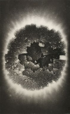 Divine Light Series No. 59: The Floating Incomplete Circle 灵光59号:漂浮的残圆, 1998, by Zhang Yu