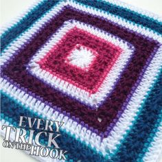 Stars Aligned 12 inch afghan block or any size square afghan. Free pattern & tutorial from every trick on the hook!