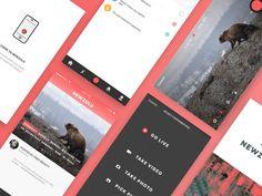 Newzulu mobile app by Beasty #Design Popular #Dribbble #shots
