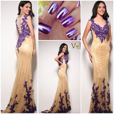 """Our newest arrival is even more stunning in person!! #prom #promdresses #prom2k15 #prom2015 #pageant #pageantgowns #formal #nails #nailart #fortwayne…"""