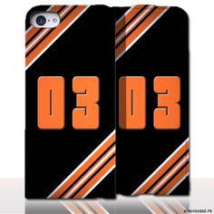 Protection iPhone 5 Cuir Numero - Personnalisez votre étui en cuir. #Housse #Etui #iPhone5 #Cuir #03