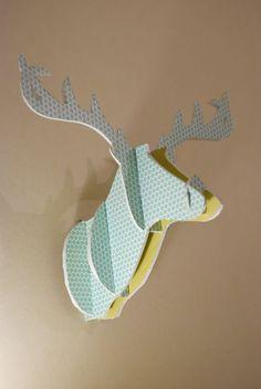 DIY - Fun cardboard deer head (comment créer une tête de cerf en carton) - Noces de coton