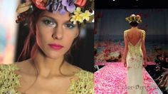 This would make a fun, yet weird photo shoot, or all-girl tea party near the woods.    Film of the Claire Pettibone 'An Earthly Paradise' runway fashion show #fashion #wedding