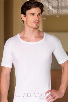 KEFALI 1er, 2er, 3er Pack Herren Business Shirt Männer Unterhemd Baumwolle Weiß