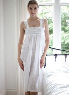 Cotton Nightwear, Night Gown Dress, Boutique Lingerie, Polka Dots, Cold Shoulder Dress, White Dress, Feminine, Nordstrom, My Style