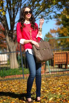 Fall outfit: layering.
