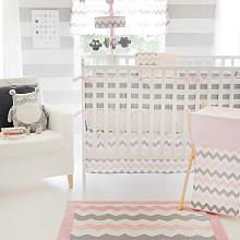 Chevron Baby 3 Piece Crib Bedding Set - Pink. Available at Babies R Us for $129.99.