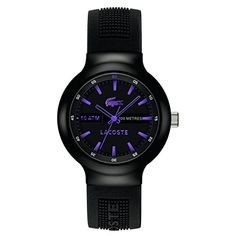 Lacoste Unisex 2010659 Boneo BlackPurple Stainless Steel Watch *** Read more at the image link. (This is an affiliate link)