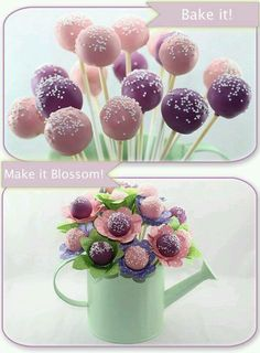 Cute cake pop bouquet