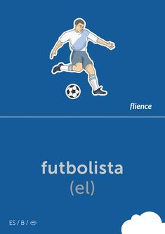Futbolista #flience #sport #soccer #english #education #flashcard #language Spanish Flashcards, English, Soccer Players, Language, Website, Sports, Free, Design, Vocabulary