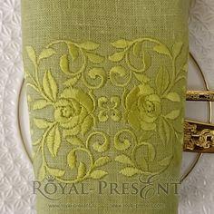 Machine Embroidery Design - Vintage ornate flower border