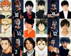Haikyuu stage play cast members these babies *^* Haikyuu Karasuno, Kuroo, Kenma, Haikyuu Anime, Nishinoya Yuu, Haikyuu Volleyball, Volleyball Anime, Haikyuu Live Action, Haikyuu Cosplay