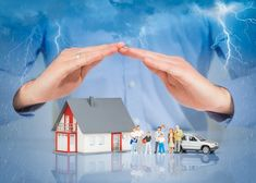 Insurance Home Live Car Protection Concept. Insurance Home House Live Car Protec , Clouds, Concept, Ads, Stock Photos, Live, Outdoor Decor, Image, House, Holiday