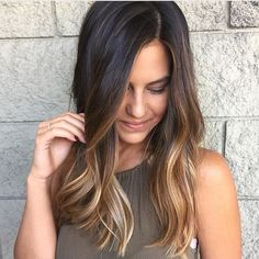 BRIGHT ✨  By @sar_hair Ombre Hair Color For Brunettes, Brunette Color, Carmel Ombre Hair, Pulp Riot Hair, Kevin Murphy, American Salon, Hair Brained, Hair Painting, Hair Hacks