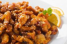 orange chicken   Did you know orange chicken did not originate in china it actually was invented in america, although you see it in all of the chinese restaraunts it is actually american!! along with wontons!!