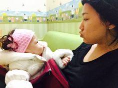 아줌마와 아기