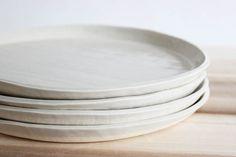 Plate set, Fog, s/4 – Julia Paul Pottery