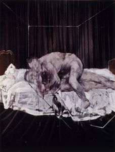 Two Figures, 1953. Francis Bacon