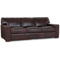 Hokku Designs Brussels Classic Leather Sofa