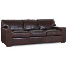 Hokku Designs Brussels Classic Leather Sofa