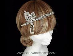 Great Gatsby Headpiece Gatsby Headband by VintageHeaddresses