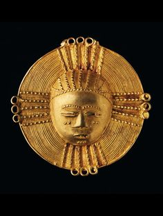 AKAN TRAILER Ivory Coast. B 7 cm. Gold alloy, approximately 16.4 carats.