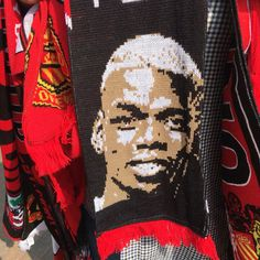 Paul Pogba scarf on sale at Old Trafford