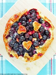 Blueberry Rhubarb Cream Cheese Baby Galettes | Cinnamon Spice & Everything Nice