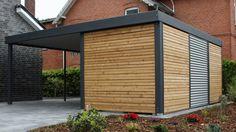 Finde moderne Garage & Schuppen Designs in Grau: Metallcarport. Entdecke die schönsten Bilder zur Inspiration für die Gestaltung deines Traumhauses.