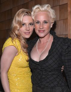 Katheryn Winnick and Patricia Arquette attend the after party fot the Los Angeles premiere of A24's 'A Glimpse Inside The Mind Of Charles Swan III' at ArcLight Hollywood at ArcLight Hollywood on February 4, 2013 in Hollywood, California.