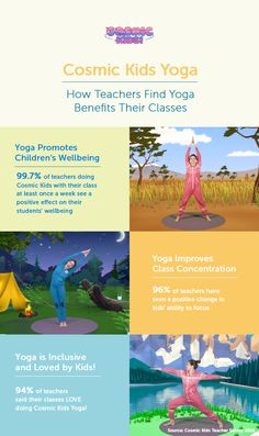 Thanks to our teacher survey, we know that Cosmic Kids Yoga is benefiting children in schools around the world! Used as a brain break or as curriculum physical activity, our yoga videos and class plans help promote wellbeing as well as improving strength and concentration...And best of all, kids love it!